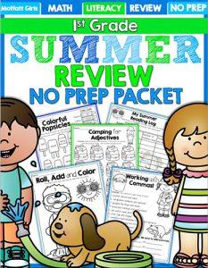 1st Grade Summer Skills WEB