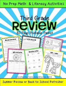 3rd Grade Summer Skills WEB