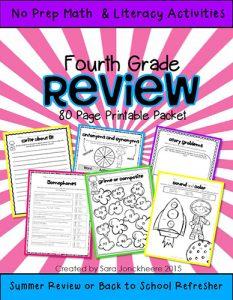 4rt Grade Summer Skills WEB