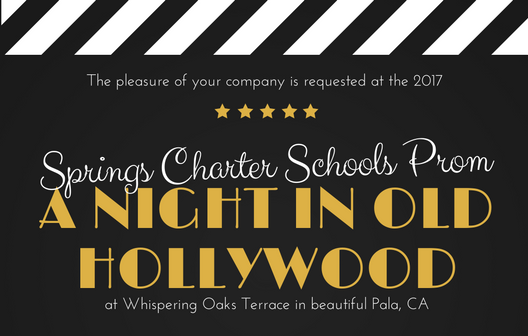 A Night in Old Hollywood Prom Invitation WEB