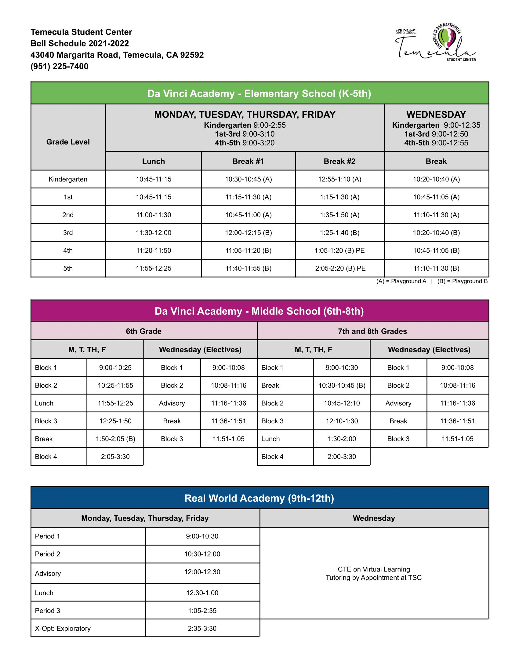 TSC 2021-2022 Bell Schedule-1