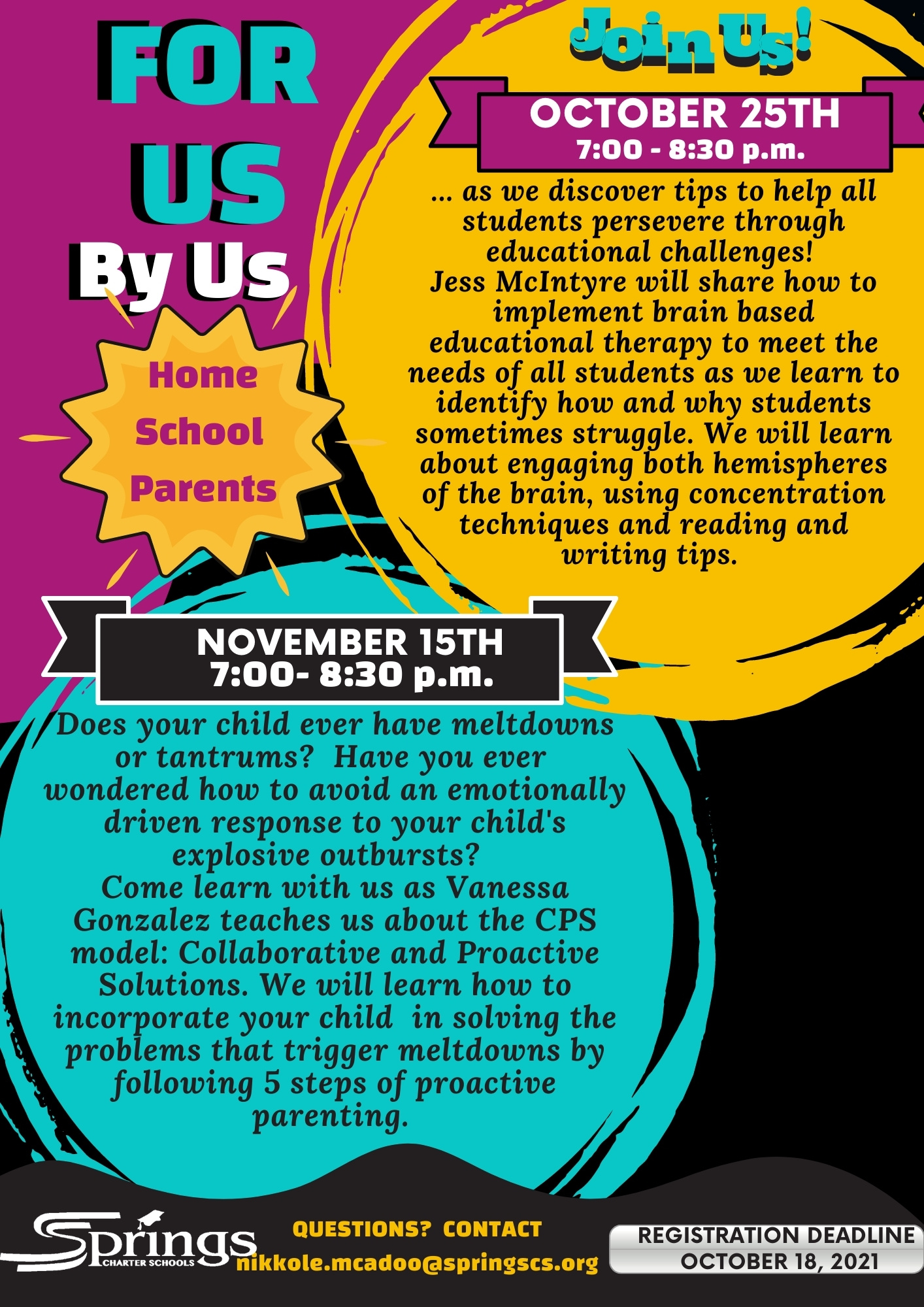 For Us By Us Flyer